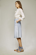 culottes and bow shirt